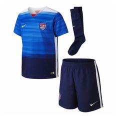 Nike USA Away Little Boys 2015 Soccer Kit (Game Royal/Loyal Blue/White)