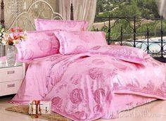 US$116.99 Soft Light Pink 4 Piece Silk-like Bedding Sets. #Sets #Light #Pink #Bedding