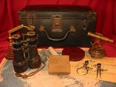 Miskatonic University Antarctic Expedition, a kit someone made, as if their grandfather had been At The Mountains of Madness! HP Lovecraft style.
