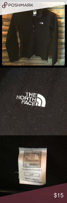 The North Face fleece pullover size Small The North Face black fleece pullover. Size small. Fits like an XS. The North Face Tops