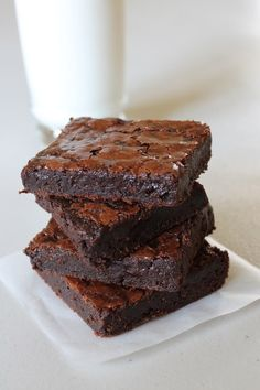 Brownie Recipes 70368812907392275 - Eggless Brownie Recipe or Eggless Chocolate Brownies- Chewy, gooey, fudgy eggless chocolate brownie recipe. It is very easy to make. Egg Free Desserts, Eggless Desserts, Eggless Recipes, Eggless Baking, Egg Free Recipes, Yogurt Recipes, Vegan Recipes, Lentil Recipes, Simple Recipes