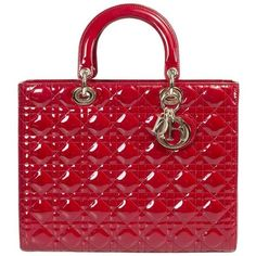 Lady Dior Patent Leather Bag