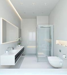 Indirekte Beleuchtung Led Badezimmer Decke Hinter Spiegel Wandnische  Badezimmer
