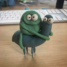 Pin on clay Ceramic Monsters, Clay Monsters, Fimo Clay, Polymer Clay Crafts, Clay Animation, Origami, Clay Miniatures, Sculpture Clay, Stop Motion