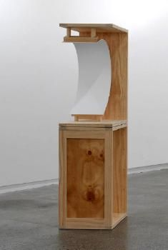 Noel Ivanoff, Concave (crate) painting 3, 2010  acrylic paint on 3mm hoop pine plywood mounted within a plywood and pine crate construction.