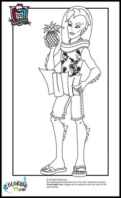 Monster High Deuce Gorgon Look Attractive Coloring Page