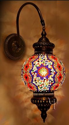Mosaic Wall Lamp by dodihere Turkish Lamps, Moroccan Lamp, Moroccan Wall Art, Turkish Lights, Mosaic Wall, Mosaic Glass, Lighting Manufacturers, Tiffany Lamps, Mosaics