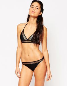 Moschino Mesh Panel Bikini Set