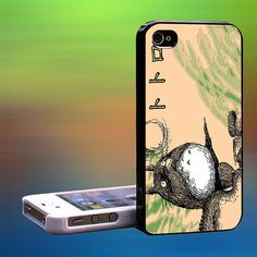 Totoro in Branch crayon art Custom Case iPhone by laskarspelangi, $14.89