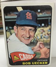 1965 Topps Bob Uecker Baseball Card for sale online St Louis Baseball, St Louis Cardinals Baseball, Baseball Park, Pirates Baseball, Stl Cardinals, Baseball Players, Baseball Uniforms, Baseball Card Values, Old Baseball Cards