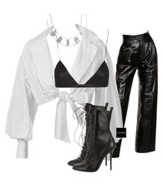 """""""Untitled #1556"""" by elinaxblack on Polyvore featuring Yves Saint Laurent, Montana, Giuseppe Zanotti and NYX"""