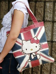 Hello Kitty and British flag - two of my favorite things.