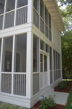 Two story screened in porch