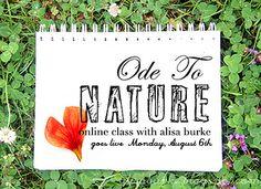 Ode to Nature: online class with Alisa Burke {http://alisaburke.blogspot.com}