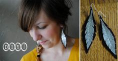 DIY Feather Earrings by Kat for #collectandcarry