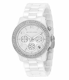 Michael Kors Runway Ceramic Chronograph Sports Watch #Dillards I NEED THISSSSS!!!!!!!!!!!!!!!!!