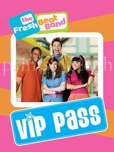 Fresh Beat Band VIP Pass. $11.00, via Etsy.