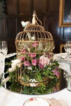 Preloved | gold decorative birdcages for sale in London