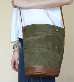 Reclaimed Army Tent Shoulder Bag   Women's Bags & Accessories   Neva Opet   Scoutmob Shoppe   Product Detail