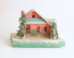 Vintage Christmas Mica Putz House Christmas Village