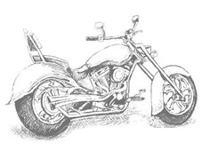 This Motorcycle stamp featured on the page 31 of the Summer Mini catalogue is a must have! Whatever the occasion, if you need a card for the boys and men in your life, this stamp fits the bi… Harley Davidson, Motorcycle Art, Coloring Book Pages, Masculine Cards, Copics, Digital Stamps, Colorful Pictures, Digital Image, Adult Coloring