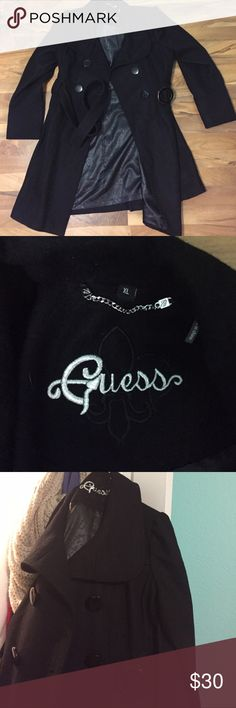 Guess Pea coat price is negotiable. very cute & flattering guess pea coat! nice shoulder framing & in great condition. worn once. can be worn as a big pea coat so can fit probably a small if you're wanting it bigger, up to an XL if you want it to fit just right G by Guess Jackets & Coats Pea Coats