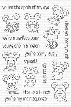 Clearly Besotted FEELING FRUITY Clear Stamp Set zoom image