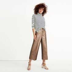 madewell langford wide-leg crop pants. #giftwell