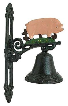 SkuBros Cast Iron Pig Bell ** Want additional info? Click on the image.