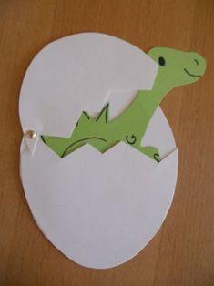 Открытка с динозаврами своими руками, поры года поры