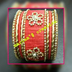 red colour bangles set  for order plz inbox .. like my page handmade jewellry by mariam  r join my group handmade jewellry by MA ON facebook