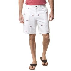 Cisco Short in White with American Burgee by Castaway Clothing
