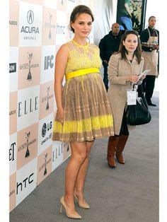 Kate Middleton maternity style inspiration - Natalie Portman #royalbaby