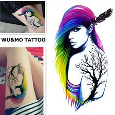 WU&MO New Colorful Hair Indian Style Cool Lady Fake Flash Sexy Body Art Waterproof Temporary Tattoo Stickers For Man Woman //Price: $2.34 //     Visit our store ww.antiaging.soso2016.com today to stay looking FABULOUS!!! Cheers!!    Message me for details!   #skincare #skin #beauty #beautyproducts #aginggracefully #antiaging #antiagingproducts #wrinklewarrior #wrinkles #aging #skincareregimens #skincareproducts #botox #botoxinjections #alternativetobotox  #lifechangingskincare…