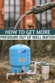Off The Grid Water Purification System Guide: Inside Straightforward Methods In Getting Safe Water - Prep Help Well Water System, Water Well, Water Filtration System, Water Systems, Well Pump Repair, Well Pressure Tank, Well Tank, Plumbing Installation, Water Purification