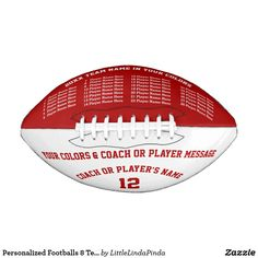 e315f642455 Football Team Gifts · Personalized Footballs. 8 Text Boxes