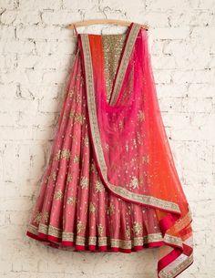 Easy On The Eyes Pink Colored Soft Silk Lehenga Choli - Indian Bridal Lehenga, Indian Bridal Outfits, Indian Designer Outfits, Designer Dresses, Half Saree Lehenga, Lehnga Dress, Anarkali, Lehenga Choli With Price, Bollywood Lehenga