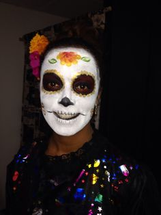 Catrina's Makeup for death people day at Mexico for a TV show.  Maquillaje de Catrina para dia de Muertos de canal 21 Tu ciudad.