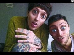 Oliver Sykes and Jordan Fish- Bring Me The Horizon