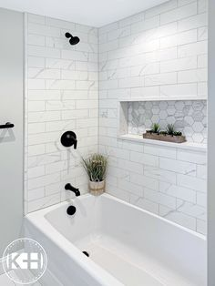 Family Bathroom, Hall Bathroom, Upstairs Bathrooms, Bathroom Renos, Master Bathroom, Bathroom Fixtures, Bathroom Tub Shower, Small Guest Bathrooms, Master Shower Tile