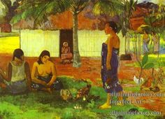 post impressionist art | ... oe riri Why Are You Angry Post Impressionism Primitivism Paul Gauguin