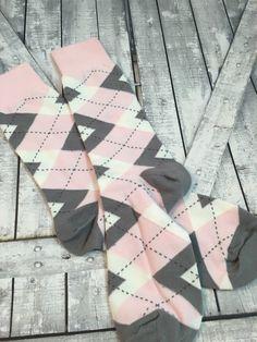 Groom Socks  Blush Pink Argyle  Mens Dress Socks