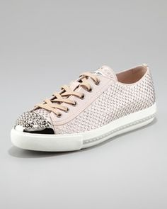 Micro Crystal Studded Cap Toe Sneaker in Spring Gift 2013 from Neiman Marcus on shop.CatalogSpree.com, my personal digital mall.