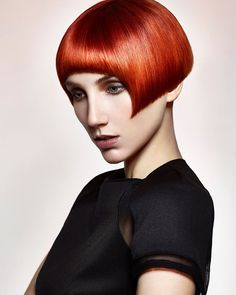 We love the copper tones in this short bob from Matt Roskell, Creative Director at Francesco Group Weeping Cross. Finalist for Midlands Hairdresser of the Year Funky Haircuts, Funky Hairstyles, Bob Haircuts, Short Hair Cuts, Short Hair Styles, Red Orange Hair, Best Bobs, Runway Hair, Hair Color And Cut