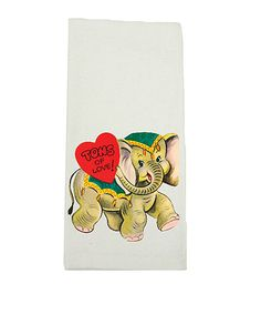 Love this 'Tons of Love' Elephant Kitchen Towel
