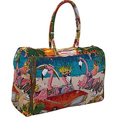 Buy the Cappelli Sunset Beach Flamingo Canvas tote at eBags - A colorful beach inspired print of fabulous flamingos gives this tote bag a playful quality that's p Flamingo Decor, Pink Flamingos, Flamingo Shoes, Flamingo Beach, Flamingo Gifts, Kitsch, Pink Bird, Florida, Everything Pink