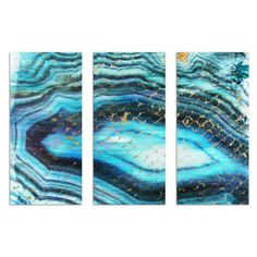 Sea of Turquoise Triptych