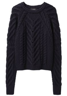 Isabel Marant / Vichy Sweater Chunky, cable knit sweater with crew neck & long sleeves.
