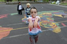 Halloween Day - Elijah opted to dress as a Zombie... about the only scary character to turn up to school that day.