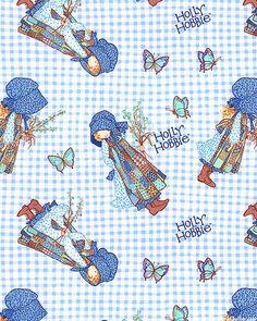 Holly Hobbie - Picking Flowers - Sky Blue